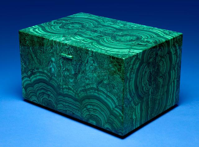 Impressive Malachite Presentation Box