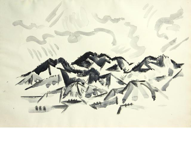 Cady Wells (American, 1904-1954) Landscape, 1933-34 15 1/4 x 22 1/4in unframed