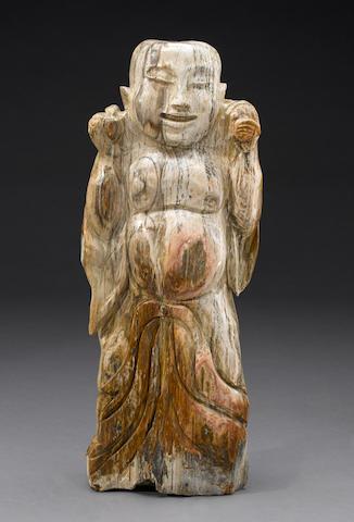 Petrified Wood Carving of Buddha