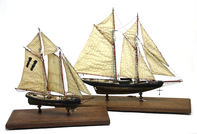 Two ship models: Elsie and Phantom
