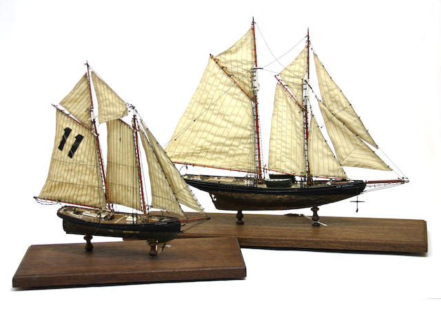 Two ship models: Elsie and Phantom
