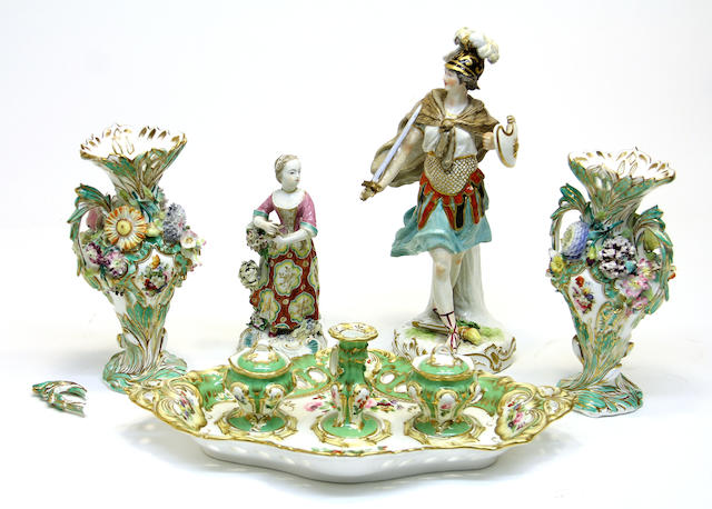 An assembled group of English and Continental porcelain late 18th/19th century