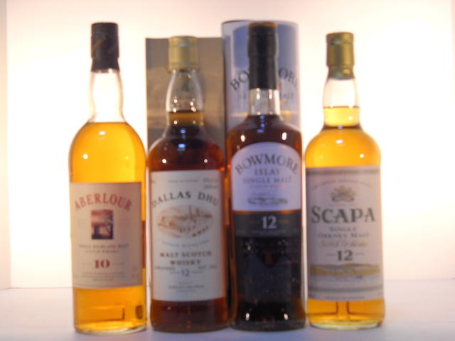 Dallas Dhu 12 years old (1)   Scapa 12 years old (1)   Aberlour 10 years old (1)   Bowmore 12 years old (1)