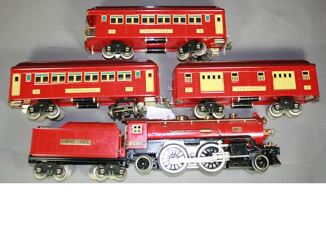 Standard Gauge 390 E Locomotive and Cars
