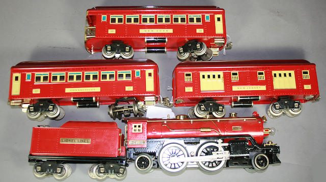 Standard Gauge 390 E Locomotive and Cars