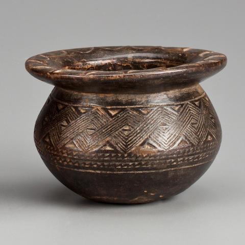 Kuba Bowl, Democratic Republic of the Congo height 3 3/4 (9.5cm)