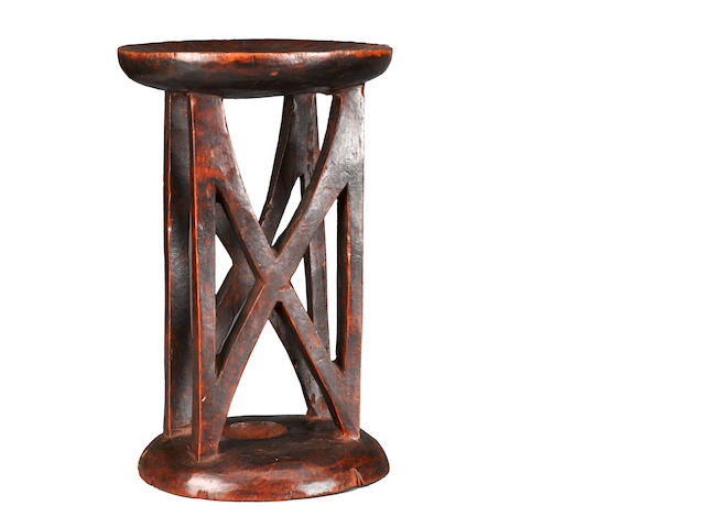 Tall Stool, possibly Ethiopia height 17 (43.2cm)