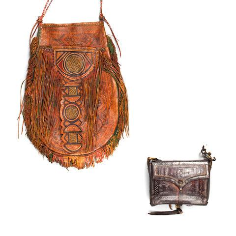 Baule Pouch, Ivory Coast and Tuareg Bag, Sudan length of pouch: 4 1/4in (10.8cm); length of bag: 12in (30.5cm)