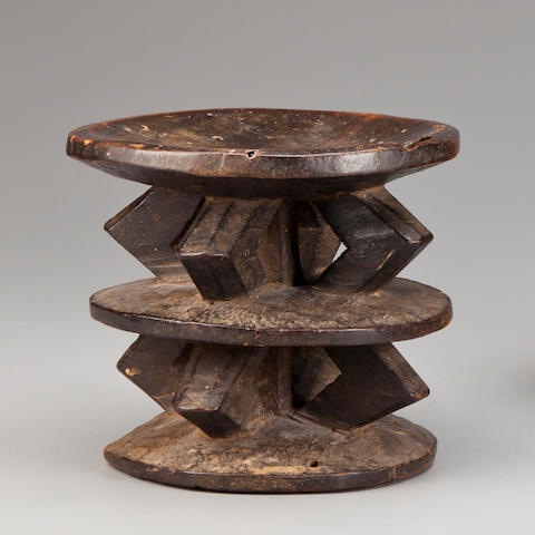Lega/Lengola Stool, Democratic Republic of the Congo height 6in (15cm)
