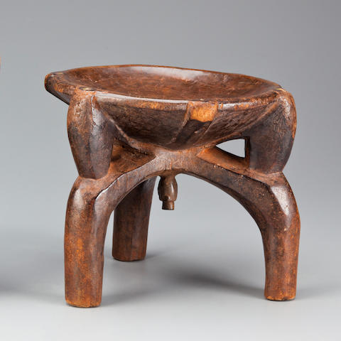 Hehe, Gogo, Zaramo Stool, Tanzania height 8 1/2in (21.5cm)