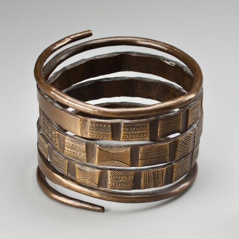 Teke Bracelet, Democratic Republic of the Congo diameter 4 1/4in (10.5cm)