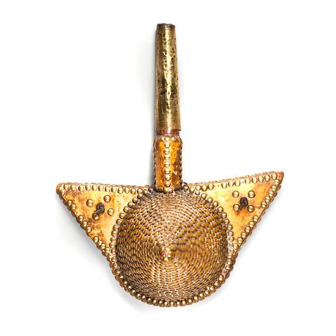 Tafilalt Powder Horn, Morocco  height 13 1/2in (34.3cm)