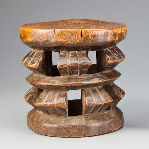 Stool, Cameroon height 9 1/2in (24.2cm)