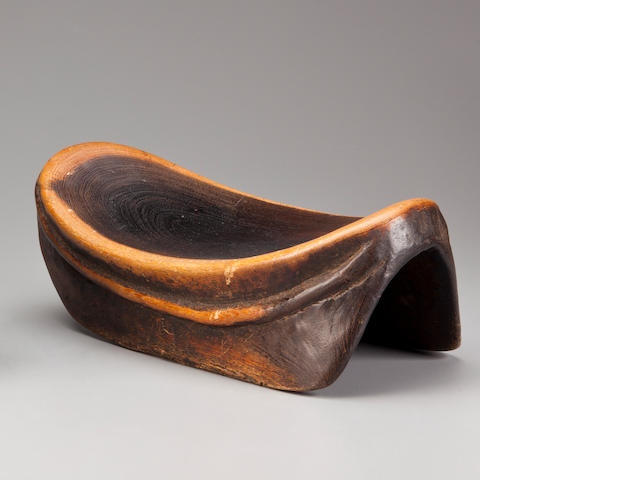 Afar Stool, Ethiopia  height 5 1/2in (14cm); length 14 3/4 (37.5cm)