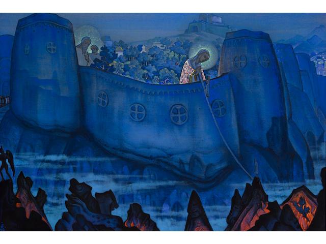 Nikolai Konstantinovich Roerich (Russian, 1874-1947) 'Madonna Laboris'