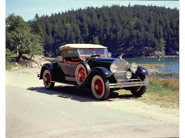 1929 Packard 640 Custom Eight Roadster  Chassis no. 168397