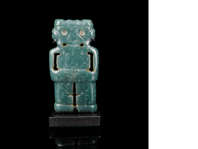 Jade Figural Pendant, Costa Rica, ca. 500 B.C. - A.D. 500 height 2 1/2in (6.4cm)