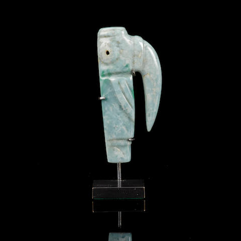 Jade Bird Pendant, Costa Rica, ca. 500 B.C. - A.D. 500  height 3in (7.7cm)