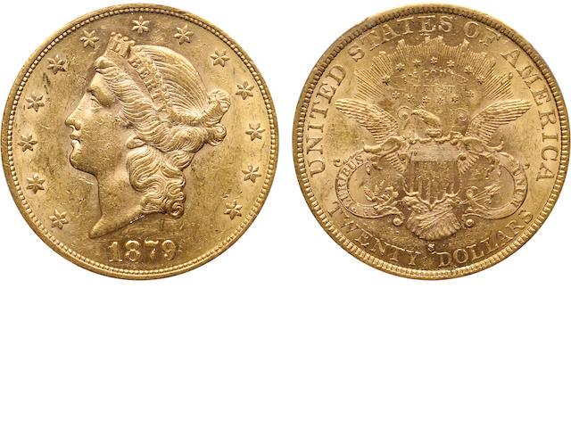 1879-S $20 AU58 PCGS