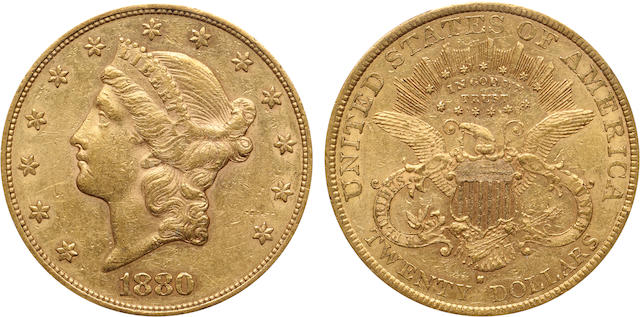 1880-S $20 AU53 PCGS