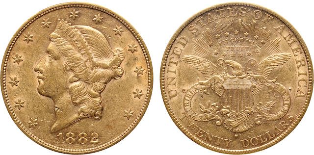 1882-S $20 AU53 PCGS