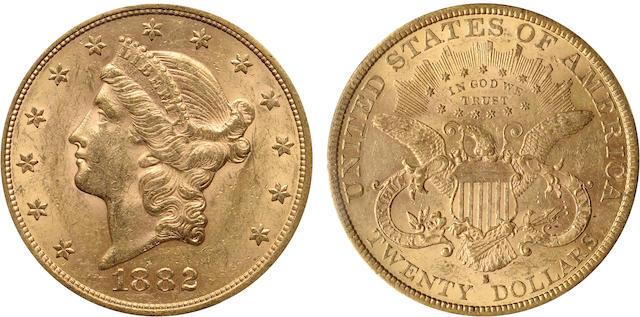 1882-S $20 AU58 PCGS