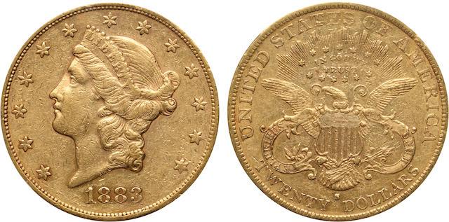 1883-S $20 AU50 PCGS