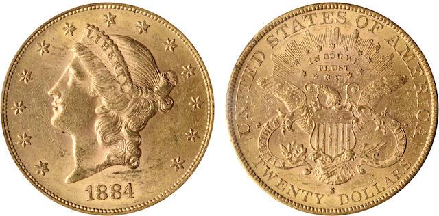 1884-S $20 MS62 PCGS