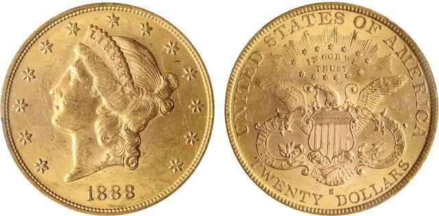 1888-S $20 MS62 PCGS