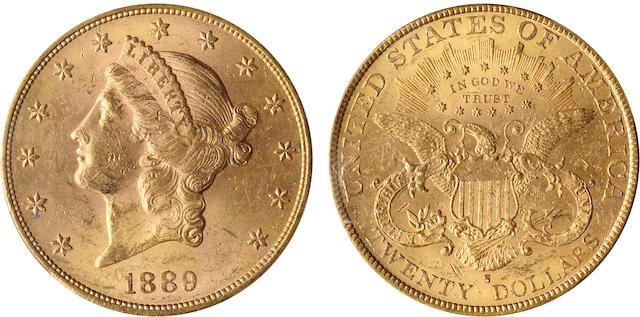 1889-S $20 MS62 PCGS