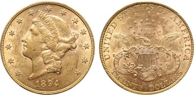 1894 $20 AU58 PCGS