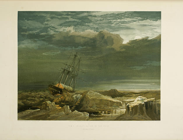 CRESSWELL, SAMUEL GURNEY. 1827-1867. A Series of Eight Sketches in Colour: together with a Coloured Map of the Route; By Lieut. S. G. Cresswell, of the Voyages of H. M. S. Investigator, Capt. M'Clure, during the Discovery of the North-West Passage. London: Day and Son, 1854.