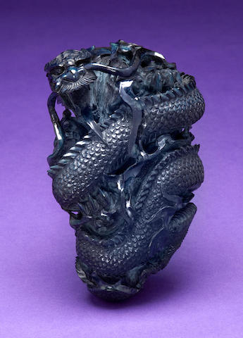 Vivianite Carving of a Dragon