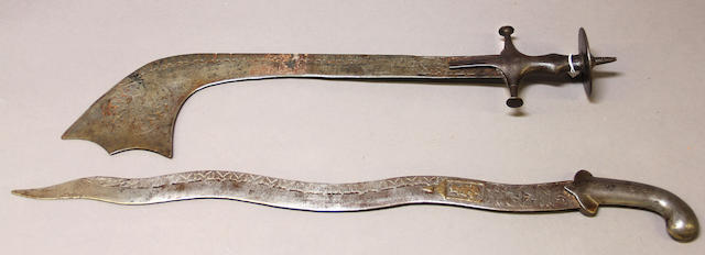 A lot of two decorative eastern swords -Select US Arms Type-