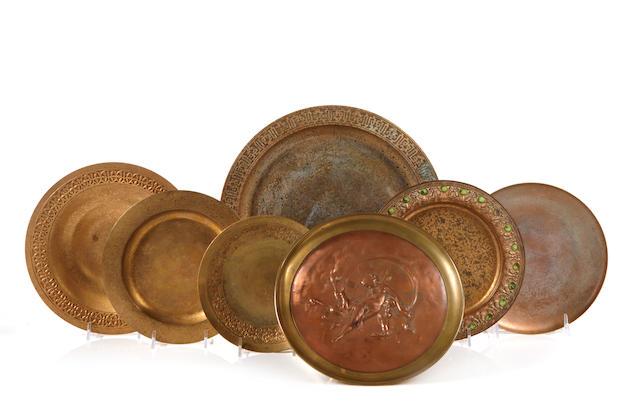 A group of five Tiffany Studios gilt-bronze dishes early 20th century