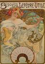 Alphonse Mucha (Czechoslovakian, 1860-1939) Biscuits Lefèvre-Utile, 1896)