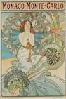 Alphonse Mucha (Czechoslovakian, 1860-1939) Monaco-Monte-Carlo, 1897