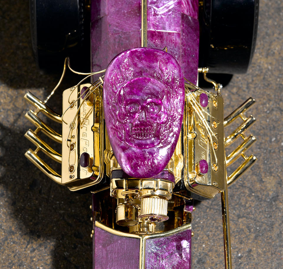 """Unique Carved Ruby and Obsidian Dragster--The Greer Black Dragster"""""""