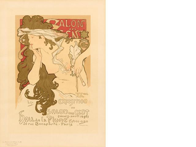 Alphonse Mucha (Czech, 1860-1939); Salon des Cent, pl. 94 from Maîtres de l'Affiche;