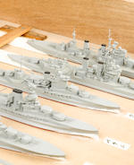 A boxed set of Japanese WWII recognition models of British warships