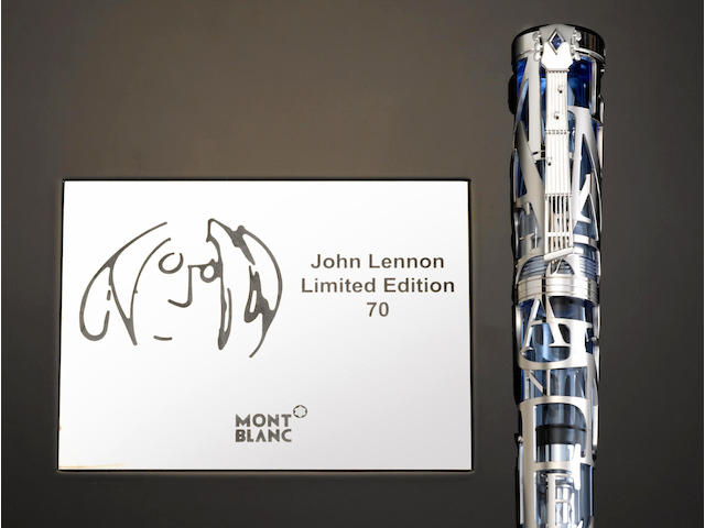 MONTBLANC: John Lennon 18K Solid White Gold Skeleton Limited Edition 70 Fountain Pen *SEALED*