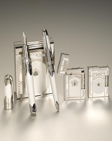 DUPONT: Taj Mahal Five-Piece Limited Edition 25 Pen & Lighter Set