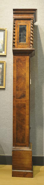 A floral marquetry longcase clock late 17th century<BR />