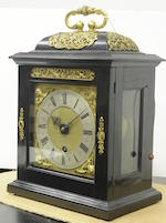 A fine and rare Charles II ebony quarter repeating timepiece Thomas Tompion, London, No. 93, circa 1685<BR />