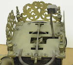 A George II brass lantern clock Signed Rich. Rayment, Bury, second quarter 18th century<BR />
