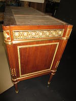 A fine Louis XVI gilt bronze mounted mahogany commode<BR />Claude-Charles Saunier<BR />fourth quarter 18th century