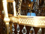 A fine Russian Neoclassical gilt bronze and glass six-light chandelier late 18th/early 19th century