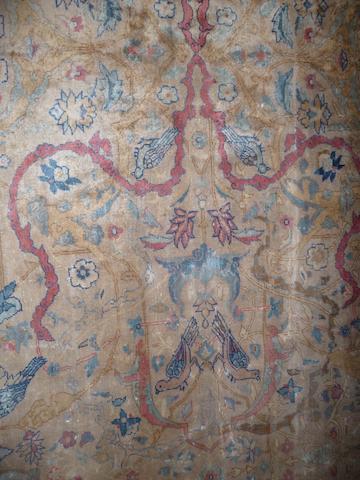 A large Kerman carpet