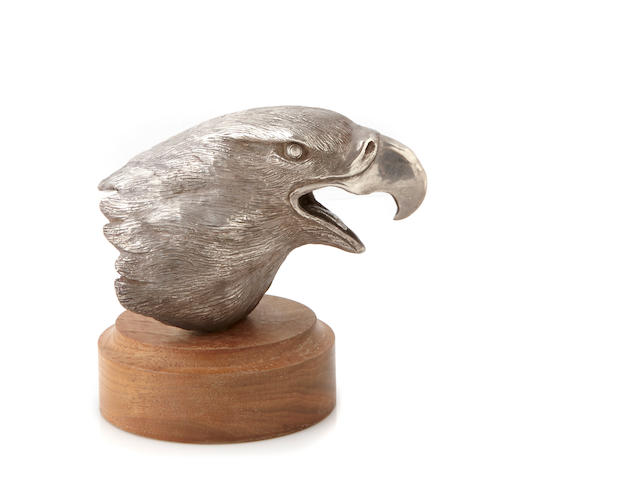 An American fine silver  sculpture of an eagle's head by Bruce Killen, Medford, OR,  20th century