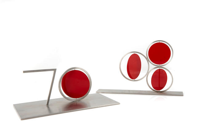 A pair of kinetic sculptures by Roger Phillips
